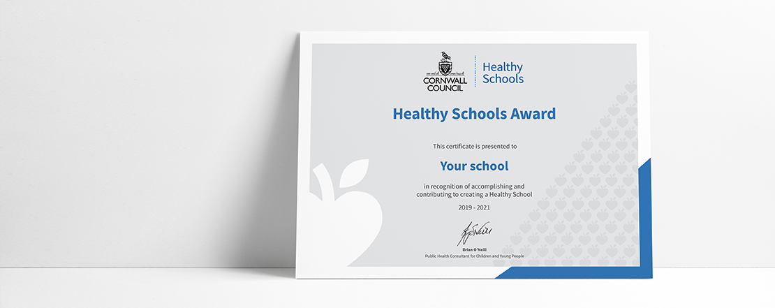 Healthy Schools Award: Food in Schools