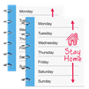 image of calendar showing staying at home