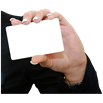 image of person holding a card
