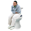 image of person sitting on toilet holding stomach